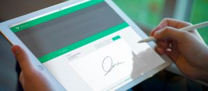 In which cases is the electronic signature used?